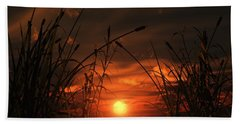Swamp Sunset  Bath Towel