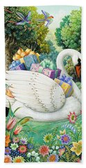 Swan Boat Bath Towel