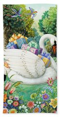 Swan Boat Bath Towel