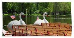 Swan Boats In Boston Bath Towel