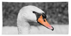 Swan Closeup Bath Towel