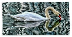 Swan On Lake Eola By Diana Sainz Hand Towel