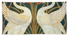 Swan Rush And Iris Bath Towel