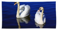 Swans On The Lake Hand Towel