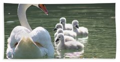Swans  Hand Towel by Rogerio Mariani
