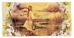 Sweet Memories A Trip To The Shore Hand Towel by Irina Sztukowski