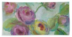 Bath Towel featuring the painting Sweetness Floral Painting by Mary Wolf