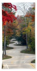 Swervy Road At North Port Hand Towel by David T Wilkinson