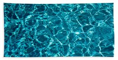 Swimming Pool Ripples Sacramento Ca Usa Hand Towel