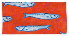 Swimming Upstream Bath Towel