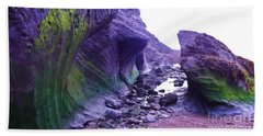 Hand Towel featuring the photograph Swirl Rocks by John Williams