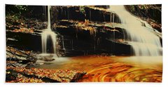 Swirling Leaves Hand Towel by Rodney Lee Williams