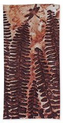 Sword Fern Fossil Bath Towel