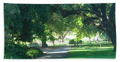 Bath Towel featuring the photograph Sydney Botanical Gardens Walk by Leanne Seymour