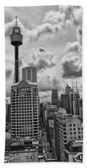 Sydney Skyline Hand Towel by Douglas Barnard