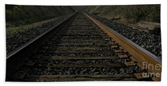 Hand Towel featuring the photograph T Rails by Janice Westerberg