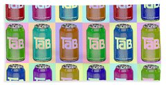 Tab Ode To Andy Warhol Repeat Horizontal Bath Towel