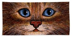 Tabby Hand Towel by Natalie Holland