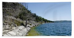 Table Rock Lake Shoreline Hand Towel