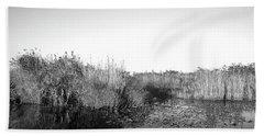 Tall Grass At The Lakeside, Anhinga Hand Towel