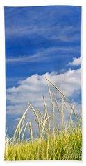 Tall Grass On Sand Dunes Hand Towel