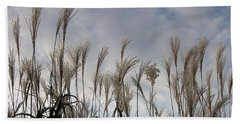 Tall Grasses And Blue Skies Hand Towel