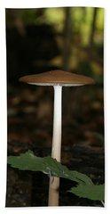 Tall Mushroom Hand Towel by Karen Harrison