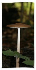 Tall Mushroom Bath Towel by Karen Harrison