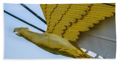 Tall Ship Uscg Barque Eagle Masthead Hand Towel