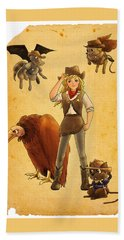 Tammy And The California Gold Rush Bath Towel by Reynold Jay