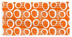 Tangerine Loop Hand Towel by Linda Woods