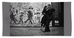 Tango Dancers In Buenos Aires Hand Towel by Venetia Featherstone-Witty