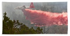 Hand Towel featuring the photograph Tanker 07 On Whoopup Fire by Bill Gabbert