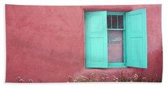 Bath Towel featuring the photograph Taos Window I by Lanita Williams
