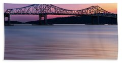 Tappan Zee Bridge Sunset Bath Towel