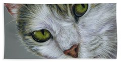 Tara Cat Art Bath Towel