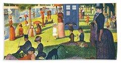 Tardis V Georges Seurat Hand Towel