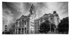 Tarrant County Courthouse Bw Bath Towel