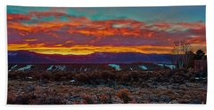 Taos Sunrise Bath Towel