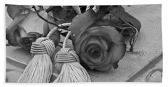 Hand Towel featuring the photograph Tassels And Roses Beauty by Sandra Foster