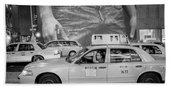 Taxis On Fifth Avenue Bath Towel