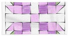 Tea Rose Quilt Block Hand Towel