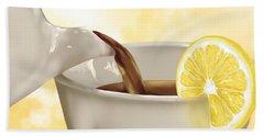 Tea Time Hand Towel by Veronica Minozzi