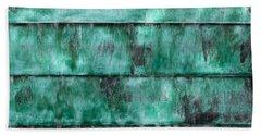 Teal Water Panels Bath Towel