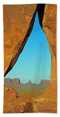 Tear Drop Arch Monument Valley Bath Towel by Jeff Brunton