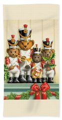 Teddy Bear Band Hand Towel