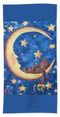 Bath Towel featuring the painting Teddy Bear Dreams by Megan Walsh