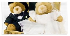 Teddy Bear Honeymoon Hand Towel by Edward Fielding
