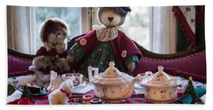 Bath Towel featuring the photograph Teddy Bear Tea Party by Patricia Babbitt