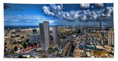 Tel Aviv Center Skyline Bath Towel